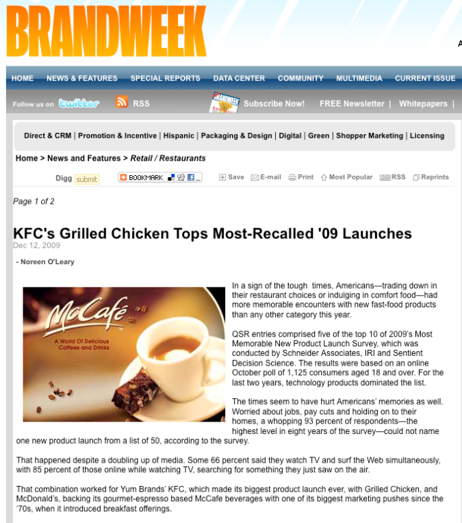 Brandweek Features SA New Product Launch Research